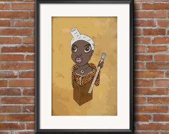 Ruby Rhod / The Fifth Element / A4 / Illustration / Poster/ Home Decor / Funny / Pop Culture / Wall Art / Gift