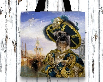 Dog Tote Bag - Miniature Schnauzer Tote Bag - Miniature Schnauzer Art - Miniature Schnauzer NEW Collection by Nobility Dogs
