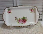 Sandwich Tray American Beauty Royal Albert Bone China