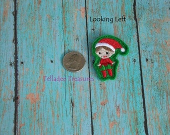 "Happy Elf Feltie - 2"" Green felt - Great for Hair Bows or Crafts - Christmas Shelf"