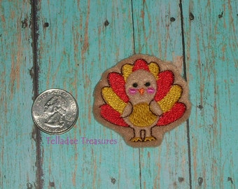 Turkey Feltie -Small Light Brown felt - Great for Hair Bows, Reels and Crafts - Thanksgiving