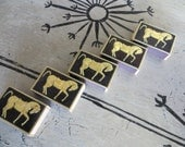 Table Matches Vintage Matches Vintage Matchbook Vintage Lighter Vintage Barware Retro Bar Monogram of California Black and Gold Decor Horse