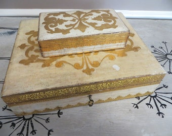 Ornate Wooden Boxes Locking Box Jewelry Bow Gold Jewelry Box Gold Decor Distressed Gold Decor