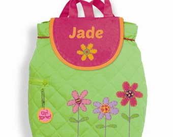 SALE! Personalized Stephen Joseph Flowers Backpack / Spring Flowers, Summertime Backpack