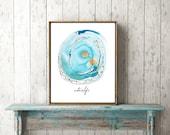 Water Is Life. 8 x 10 Inspirational Art Print. NoDAPL Donation.