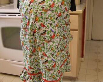 Plus size Birds apron