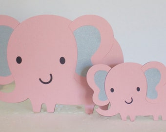 Mamá Y Bebé Elefante Baby Shower, Bebé, Pastel De Cumpleaños, Elefante Bebé  Ducha