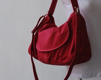 Back To School SALE - 30% Fortuner in Rose Red (Water Resistant Insulated) Messenger Bag/ Shoulder / Tote / School Bag/Diaper Bag/ School Ba
