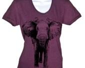 Elephant T-Shirt Womens Elephant T Shirt Gifts For Her Ladies Plus Sizes Animal Tees Soft Vintage Shirts Men Guys Kids Gift Idea Birthday
