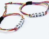 Lesbian Couple Bracelets Rainbow Gay Pride Wedding Gift LGBT Jewelry