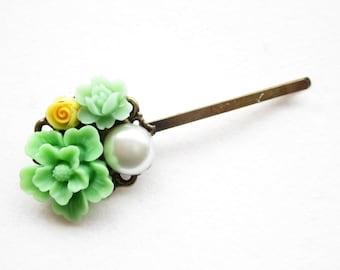 Haarklammer,haarspange,hair pin,hair clip, hochzeit,wedding,Blumen,Vintage-Stil