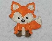 Fox (small) Tutu & Shirt Supplies - fabric iron on Applique Patch 8168