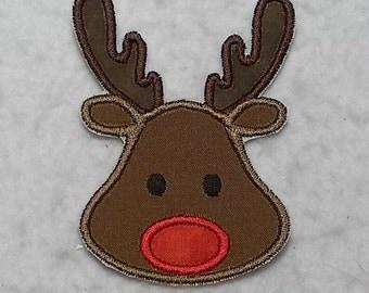 Reindeer (small) Tutu & Shirt Supplies fabric iron on Applique Patch 7368