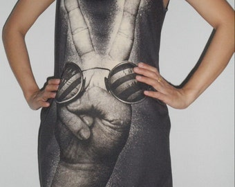 John Lennon Lady tank top Singlet T-Shirt Mini dress