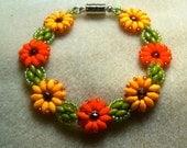 Fall Flower Bracelet