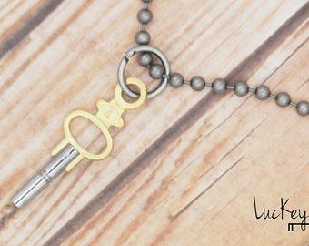 Watch Key Necklace, Clock Key Necklace, Key Necklace, Upcycled Jewelry, Upcycled Necklace, Key Jewelry, Steampunk Key Necklace, Skeleton Key
