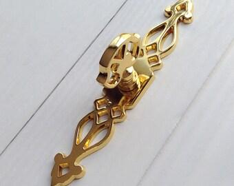 Gold Handles Dresser Pulls Handles / Gold Back Plate Drawer Knob Cabinet Pull Handle Knobs Furniture Hardware LJ140