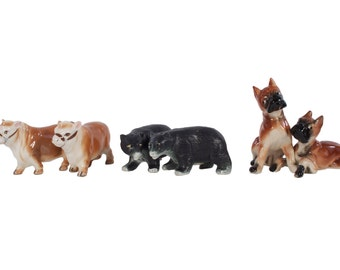 Instant Salt and Pepper Collection - Set of 3 - Perfect Condition - Boxers - Bears - Cows