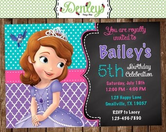 Princess Sofia Birthday Invitation (SF02)