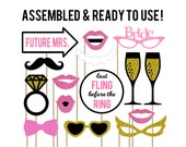 Bachelorette Photo Booth Props . Set of 15 . Bachelorette Decorations . Bachelorette Party Decorations . Wedding Photo Booth Props