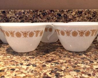 1950's Teacups, set of 5