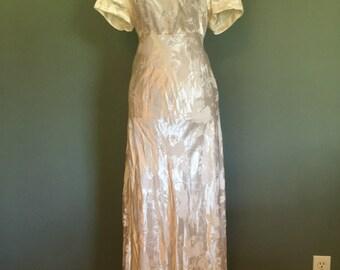 70s/80s Informal Casual Wedding Dress, size M