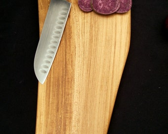 Natural cutting board, Rustic Wood Cutting Board, OOAK, organic  Bigleaf Maple, handsome