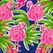 """Preppy Pack. 12"""" x 12"""" Hot Pink Flamingo Pattern Vinyl With Permanent Adhesive"""