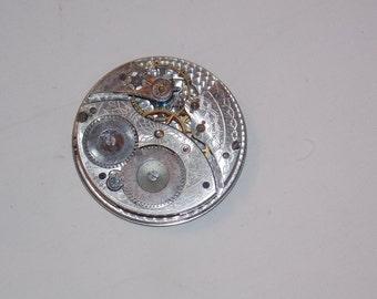 Antique 40mm Etched Pocket Watch Movement