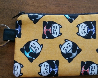 Keychain Coin Pouch - Asian Cat