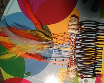 PRGA feather hair combs