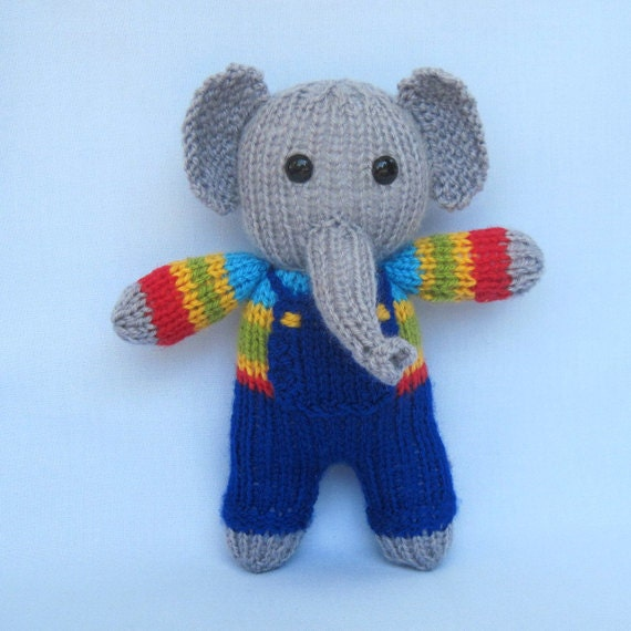 Knitting Pattern Cow Toy : Cow, elephant, frog, dog - 4 toy animal doll knitting patterns - PDF INSTANT ...