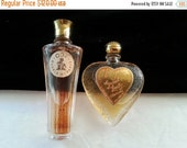 Now On Sale Rare ODE Guerlain Paris Perfume Bottle * Set of 2 Collectible Miniature Bottles * Great Lady Heart Cologne * Evyane Perfumes