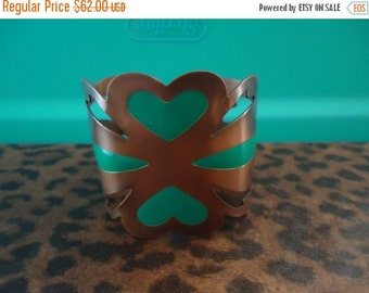 Christmas In July Sale Vintage  Wide Copper Bracelet 1950's 1960's Collectible Mad Men Mod Retro Cool Old Hollywood Glam Modernist Jewelry