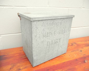 Maple Hill Dairy Metal Milk Delivery Porch Box - Insulated - VERY STRONG
