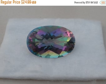 ON SALE Rainbow Mystic Quartz Oval Cushion Gem 30 x 20mm