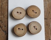 1/2 Inch Handmade, Recycled Wooden Tree Branch Buttons, Eco-Friendly, a418