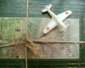 Vintage Celluloid Airplane Toy Brooch