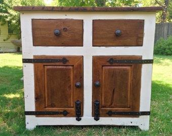 French Country Cupboard - Handmade with reclaimed wood by Arcadian Cottage