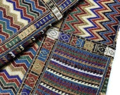 Thai Woven Fabric Tribal Fabric Native Cotton Fabric by the yard Ethnic fabric Craft fabric Craft Supplies Woven Textile 1/2 yard (WF49)