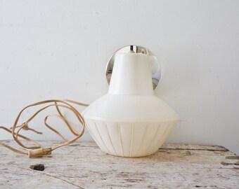 Vintage Midcentury White Light Sconce Bedroom Lamp Modern Light