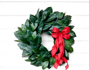 MAGNOLIA Wreath-Valentines Day Wreath-Holiday Wreath-Outdoor Wreath-All Season Door Wreaths-Housewarming Wreath-Holiday Home Decor-Gifts