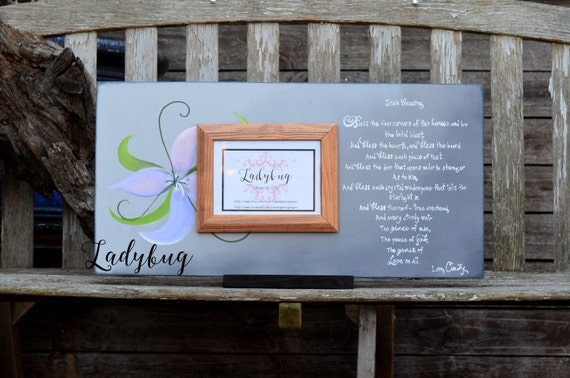 Irish Blessing Customize Your Own Picture Frame 24x12 Handmade
