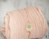 Newborn photography wraps hand dyed with headband