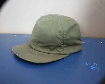 Vintage 1970s / 1980s Army Green Military Hat Retro Historic Piece U.S. Army Cap (Size 7) Hipster