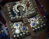 Tribal Tassel Messenger Bag Moroccan Desert Carpet Bag Ethnic Textile Bag Kuchi Bag Tribal Boho Bag Gypsy Red Blue Oriental Nomad Carpet Bag