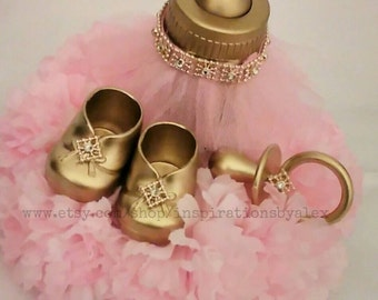 Royal Centerpiece, Pink And Gold, Pink And Silver, Royal Celebration, Royal  Baby