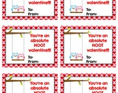 Personalized Owl Valentines Cards Print Your Own