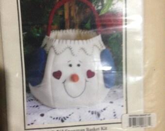 Snowman Basket  Kit