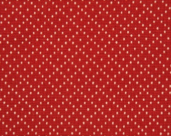 Two 20 x 20   Custom Designer Decorative Pillow Covers - Poppy Red with Dots
